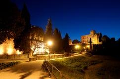 Noche del castillo Fotografía de archivo libre de regalías