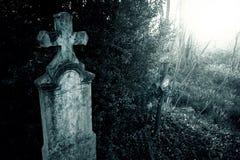 Noche del cementerio Imagen de archivo