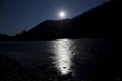 Noche del claro de luna Imagen de archivo libre de regalías