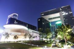 Noche del complejo del Consejo Legislativo Imagen de archivo