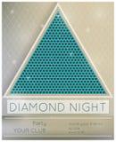 Noche del diamante del partido Imágenes de archivo libres de regalías