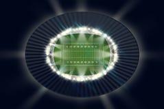 Noche del estadio de fútbol Imágenes de archivo libres de regalías