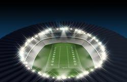 Noche del estadio de fútbol Fotos de archivo libres de regalías