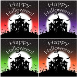 Noche del feliz Halloween con los palos Fotografía de archivo libre de regalías