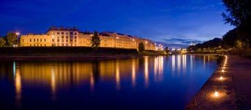 Noche del festival en Vilnius Imágenes de archivo libres de regalías