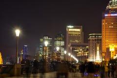 Noche del horizonte de Shangai Foto de archivo