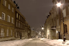 Noche del invierno Imagen de archivo libre de regalías