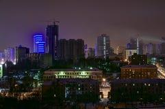 Noche del invierno de Ekaterimburgo Fotos de archivo