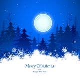 Noche del invierno de la Navidad ilustración del vector