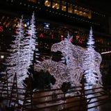 Noche del invierno en el cuadrado de Sergels Foto de archivo
