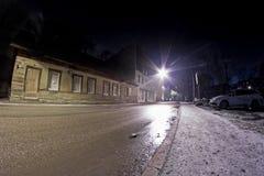 Noche del invierno en la ciudad imagen de archivo libre de regalías