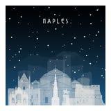 Noche del invierno en Nápoles
