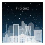 Noche del invierno en Pheonix ilustración del vector