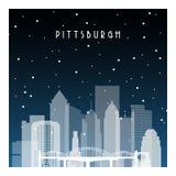Noche del invierno en Pittsburgh libre illustration