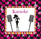 Noche del Karaoke, ejemplo abstracto Fotos de archivo libres de regalías