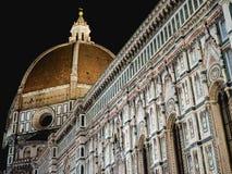 Noche del lado de la catedral de Florencia Imagen de archivo