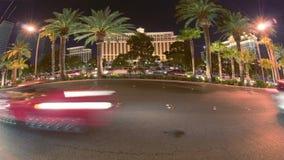 Noche del lapso de tiempo que conduce Las Vegas oblicuo almacen de video