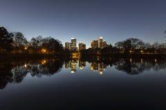 Noche del Midtown de Atlanta Foto de archivo