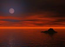 Noche del océano Fotos de archivo