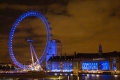 Noche del ojo de Londres Fotos de archivo libres de regalías