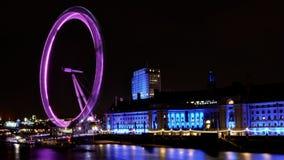 Noche del ojo de Londres Imagen de archivo libre de regalías
