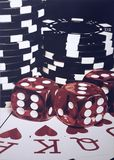 Noche del póker imagen de archivo libre de regalías