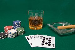 Noche del póker Imágenes de archivo libres de regalías
