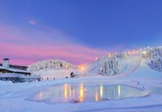 Noche del panorama en declive. Fotos de archivo libres de regalías
