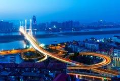 Noche del puente fotos de archivo