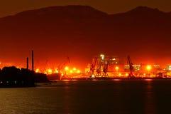 Noche del puerto de Lianyungang Foto de archivo libre de regalías