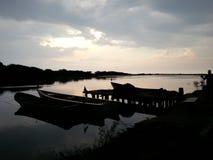 Noche del puerto de Piritu Fotos de archivo