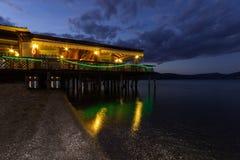 Noche del restaurante Fotografía de archivo