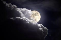 Noche del revestimiento de la Luna Llena Fotos de archivo libres de regalías