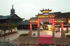 Noche del templo de Wuxi Nanchan fotografía de archivo libre de regalías
