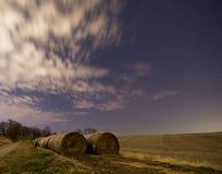 Noche después de la cosecha Imagenes de archivo