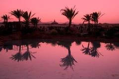 Noche egipcia del centro turístico Fotografía de archivo