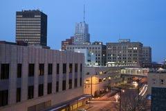 Noche en Akron Imagenes de archivo
