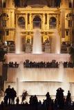 Noche en Barcelona imágenes de archivo libres de regalías