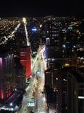 Noche en Bogotá, Colombia Imagenes de archivo
