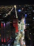 Noche en Bogotá, Colombia Imagen de archivo