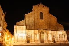 Noche en Bolonia foto de archivo