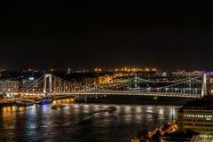 Noche en Budapest Fotos de archivo libres de regalías