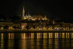 Noche en Budapest Imágenes de archivo libres de regalías