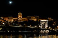 Noche en Budapest Fotografía de archivo libre de regalías