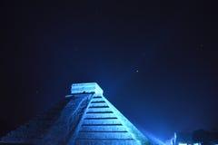 Noche en Chichen Itza Imágenes de archivo libres de regalías