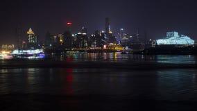Noche en Chongqing Imágenes de archivo libres de regalías