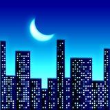 Noche en ciudad Foto de archivo libre de regalías