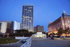Noche en Cleveland Imagenes de archivo