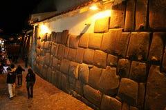 Noche en cuzco Imagen de archivo libre de regalías