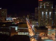 Noche en Denver foto de archivo